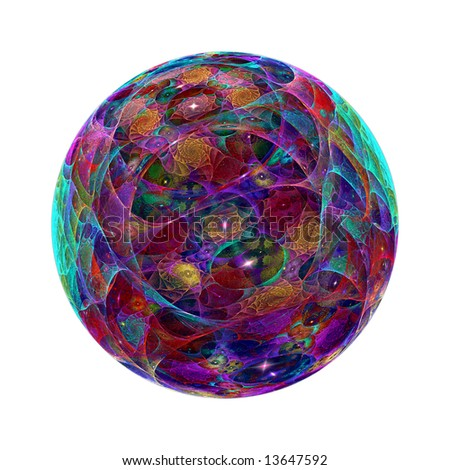 Abstract fractal image resembling a spiraling marble - stock photo