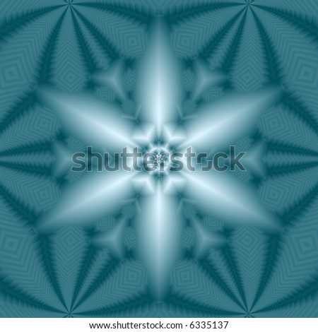 Abstract fractal kaleidoscope in snowflake shape. - stock photo