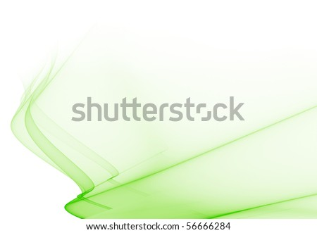 Abstract fractal light green background - stock photo