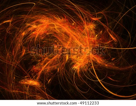 Abstract fractal light shape background design, horizontal