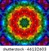 Abstract Fractal Mandala Background - stock photo