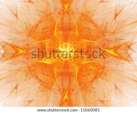 abstract fractal on white background