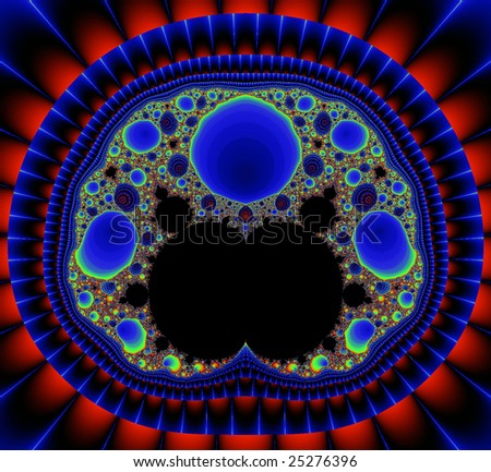 Abstract fractal pattern - stock photo