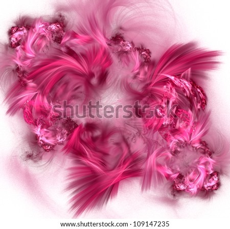 Abstract fractal pattern. Computer generated graphics. Pink palette. - stock photo
