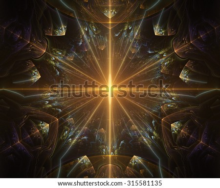 Abstract fractal patterns and shapes. Fractal texture. The colors in the series, Fancy paint. Background consists of fractal color texture. - stock photo