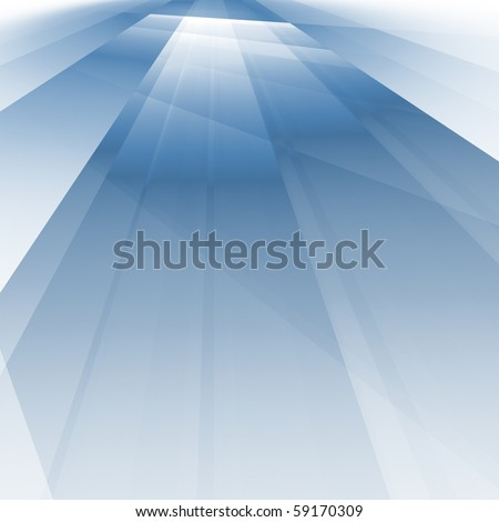 abstract fractal rendering of soft blue shadows - stock photo