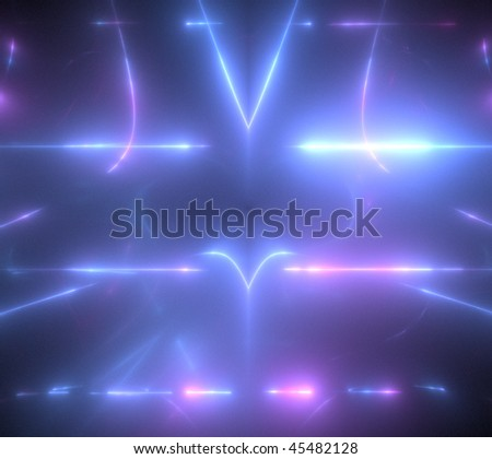 abstract fractal rendering resembling neon lights - stock photo