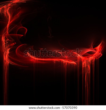 abstract fractal rendering resembling ripping blood - stock photo