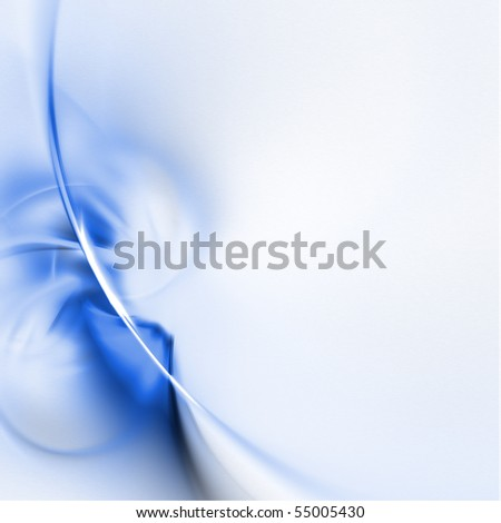 abstract fractal rendering soft lines - stock photo