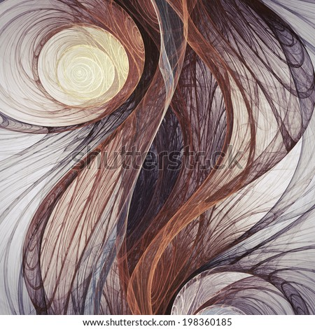 Abstract fractal roots, digital artwork for creative graphic design - stock photo