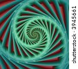 abstract fractal spiral - stock photo