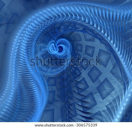 Abstract fractal spiral computer-generated image - stock photo
