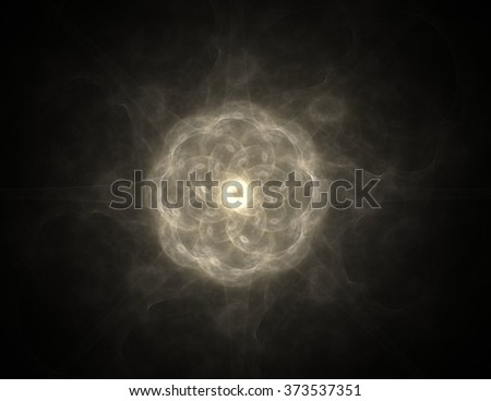 Abstract fractal wreckage, digital artwork for creative graphic design - stock photo