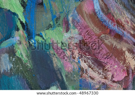 Abstract fragment of painting, can be used as background