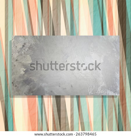 abstract frame and colorful wallpaper with personal autograph - stock photo