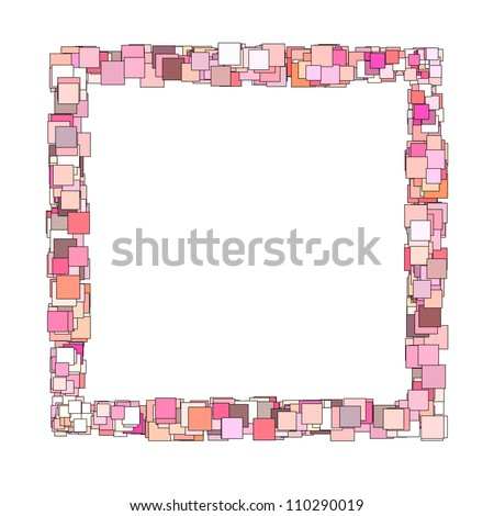 abstract frame composition with pink magenta square plane - stock photo