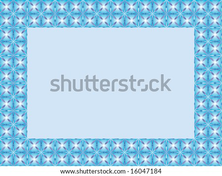 abstract frame with flower pattern