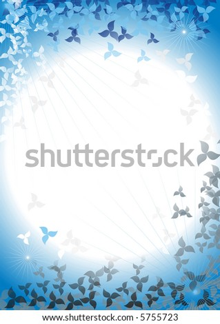 Abstract framework from petals on a background of the night sky