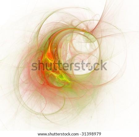 abstract fresh cosmic border - stock photo