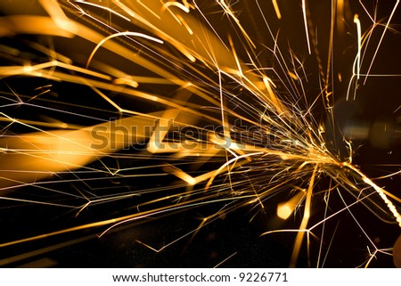 Abstract full of sparks in all dimensions