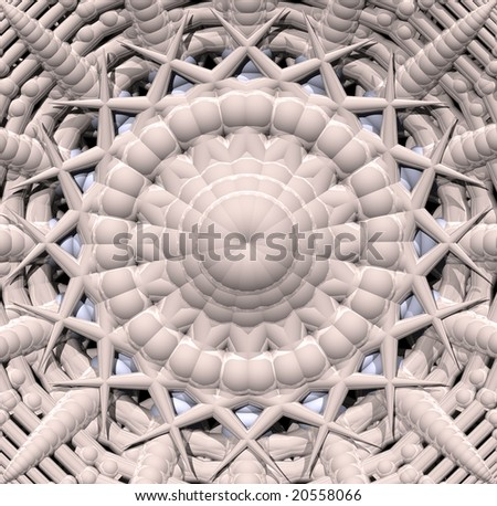 abstract futuristic background - 3d illustration - stock photo