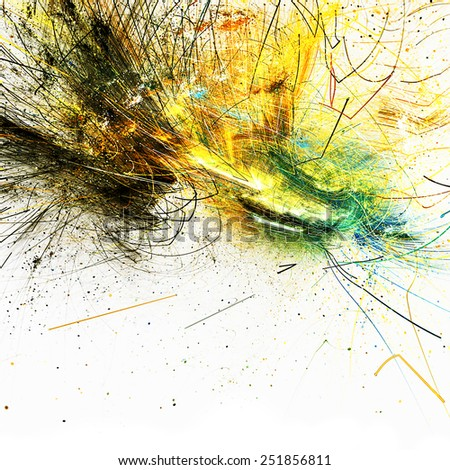 Abstract futuristic background with lighting effect. Bright color cover design, template for corporate business card, book, booklet, brochure, flyer, poster. Fractal artwork for creative design. - stock photo
