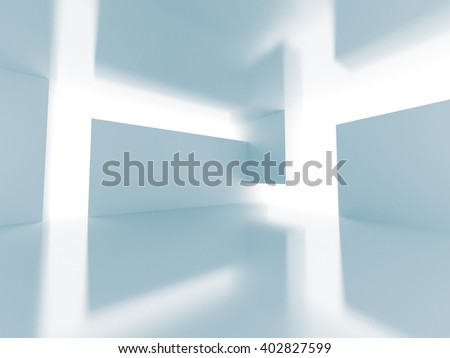 Abstract Futuristic Empty Interior Architecture Background. 3d Render Illustration