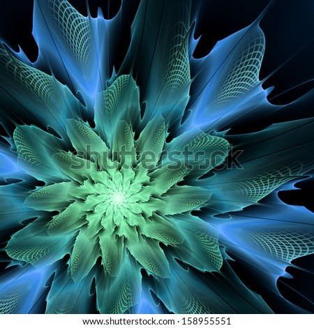 Abstract futuristic flower