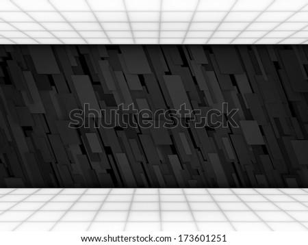 Abstract futuristic interior - stock photo
