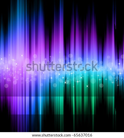 Abstract Futuristic Rainbow Lights Background for Poster of Flyers - stock photo