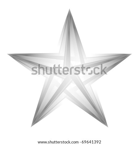 Abstract futuristic star on white background, logotype template