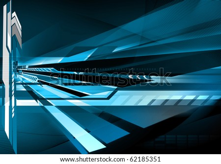 Abstract futuristic technology background - stock photo