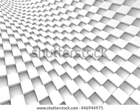 Abstract Futuristic White Cubes Design Background. 3d Render Illustration - stock photo