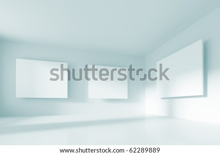 Abstract Gallery Interior - stock photo