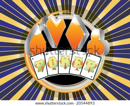 abstract gambling Poker style with cards