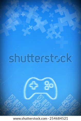 Abstract game sale invitation poster or flyer background with empty space - stock photo