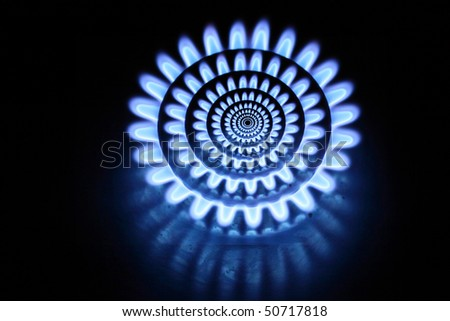 abstract gas burners - stock photo