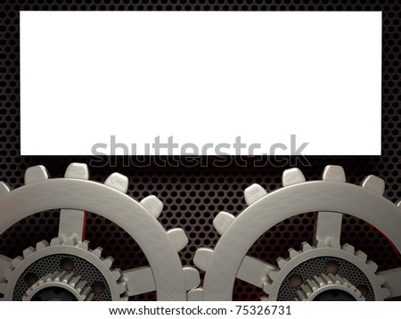 Abstract gear background - vector illustration 3D - stock photo