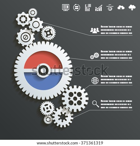 Abstract Gear Wheels Infographics Background Concept Design Illustration  - stock photo
