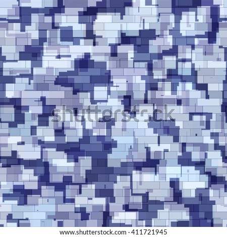 Abstract generated blue grey camouflage pattern military background - stock photo