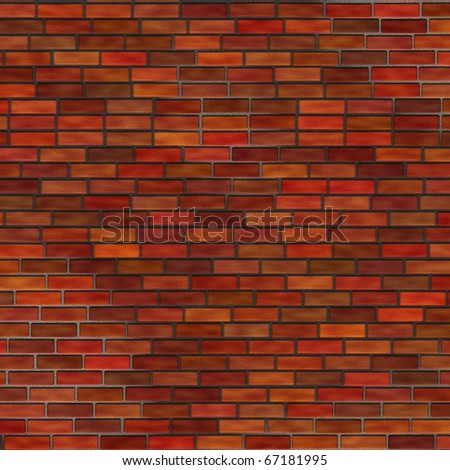 Abstract generated brick wall surface grunge background - stock photo