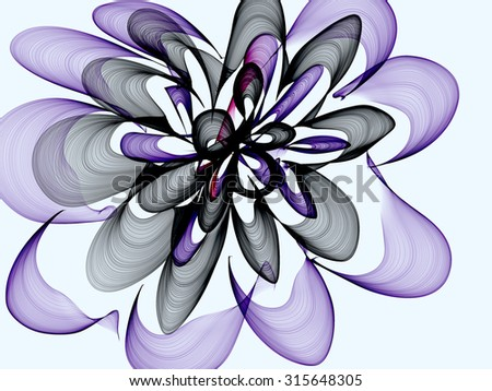 Abstract generated colorful graphic pattern white background - stock photo