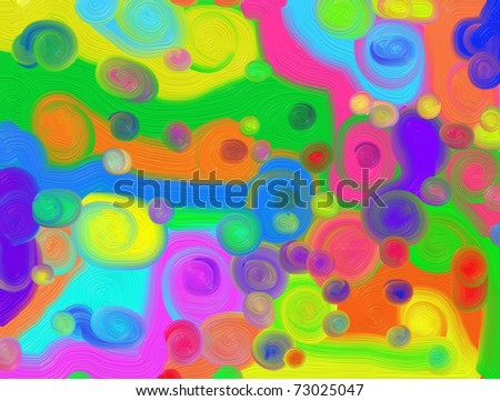 Abstract generated oil painted background