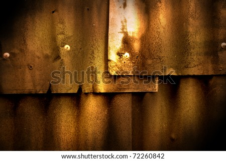 Abstract generated rust metal surface background - stock photo