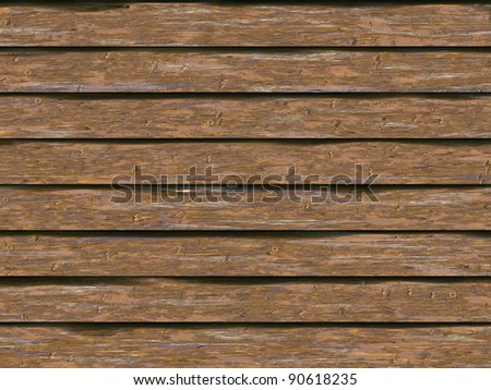 Abstract generated weathered wooden logs vintage background - stock photo