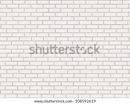 Abstract generated white brick wall surface graphic background - stock photo