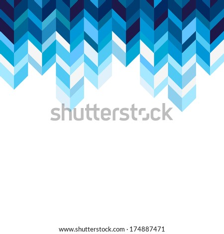 Abstract, geometric background, blue, spectrum - stock photo