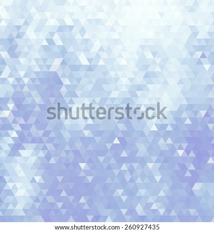 Abstract geometric background consisting of light blue triangles. - stock photo