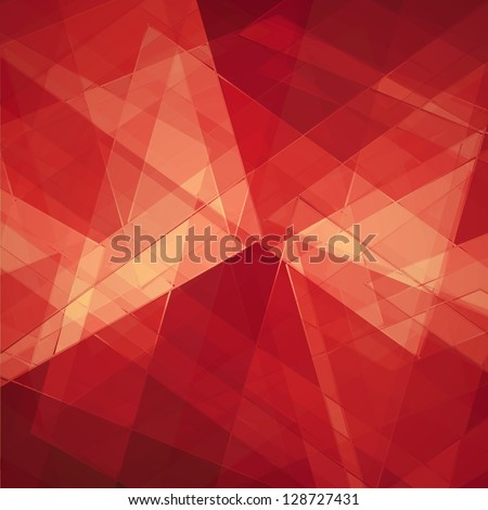 abstract geometric background design shape pattern, futuristic background, technology business presentation report cover, angled triangle abstract shape art, glass texture, white red background wall - stock photo
