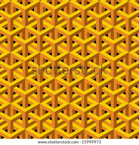 Abstract geometric background in yellow and orange. - stock photo